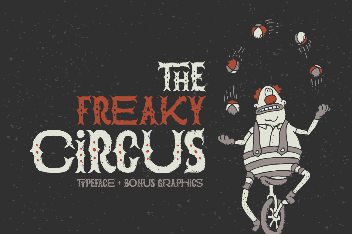 Print on Demand: The Freaky Circus Display Font By Gleb Guralnyk