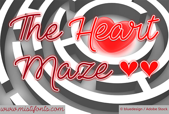 Print on Demand: The Heart Maze Manuscrita Fuente Por Misti