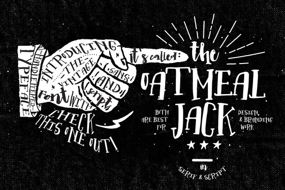 Print on Demand: Oatmeal Jack Serif Font By Blue Robin Design Shop