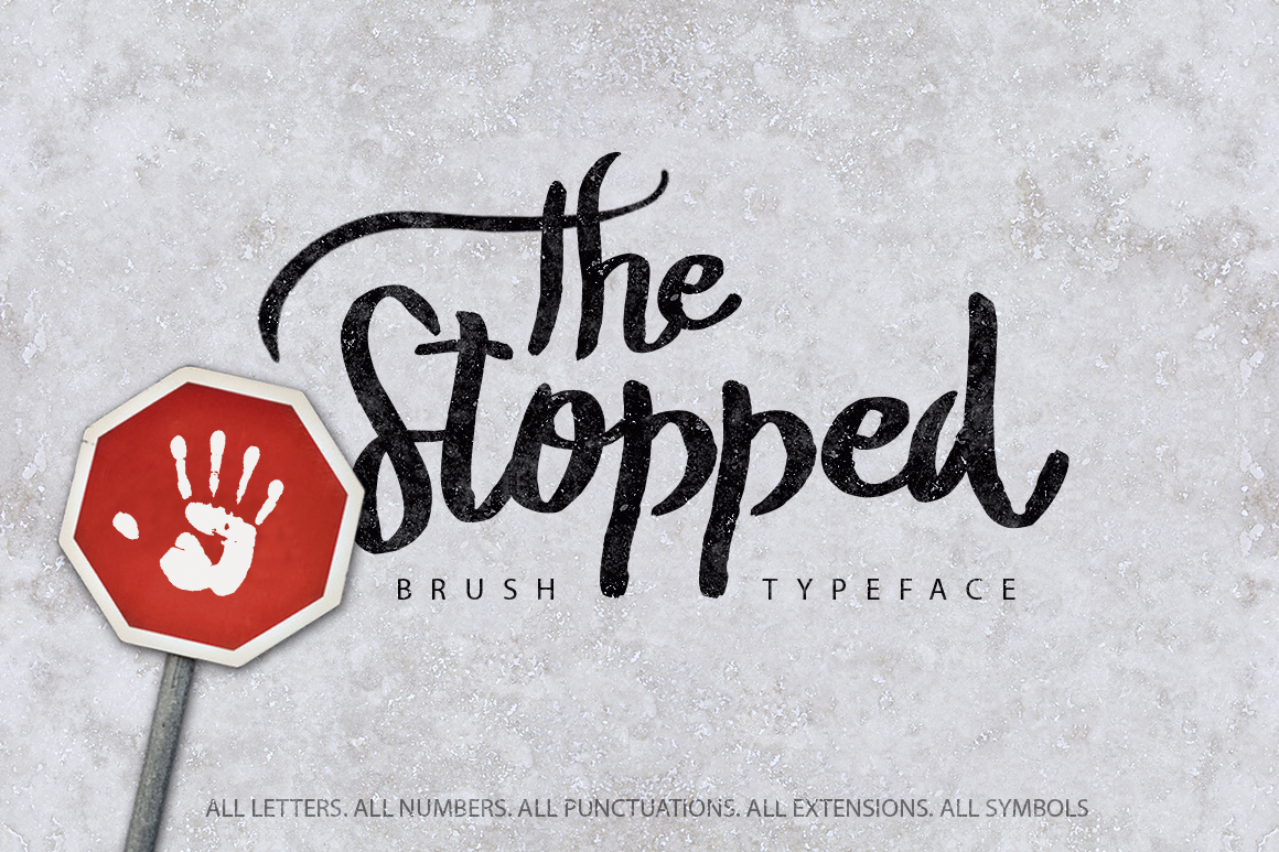 Print on Demand: The Stopped Script & Handwritten Font By SmartDesigns