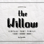 The Willow Display font by the Vynetta Foundry 1