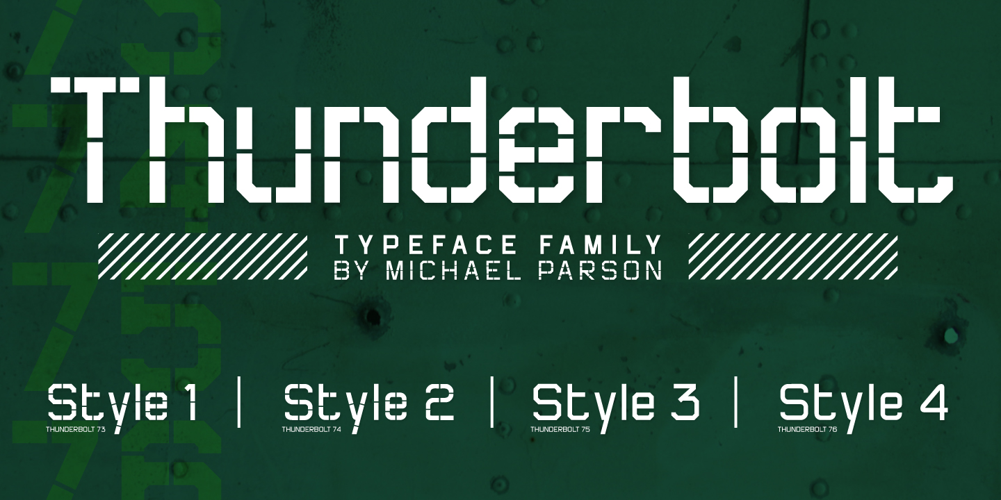 Print on Demand: Thunderbolt Display Font By Typogama