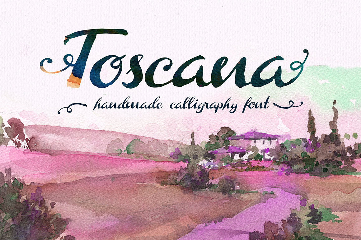 Print on Demand: Toscana Script & Handwritten Font By DesignSomething