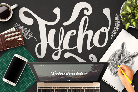 Print on Demand: Tycho Script & Handwritten Font By maulanacreative