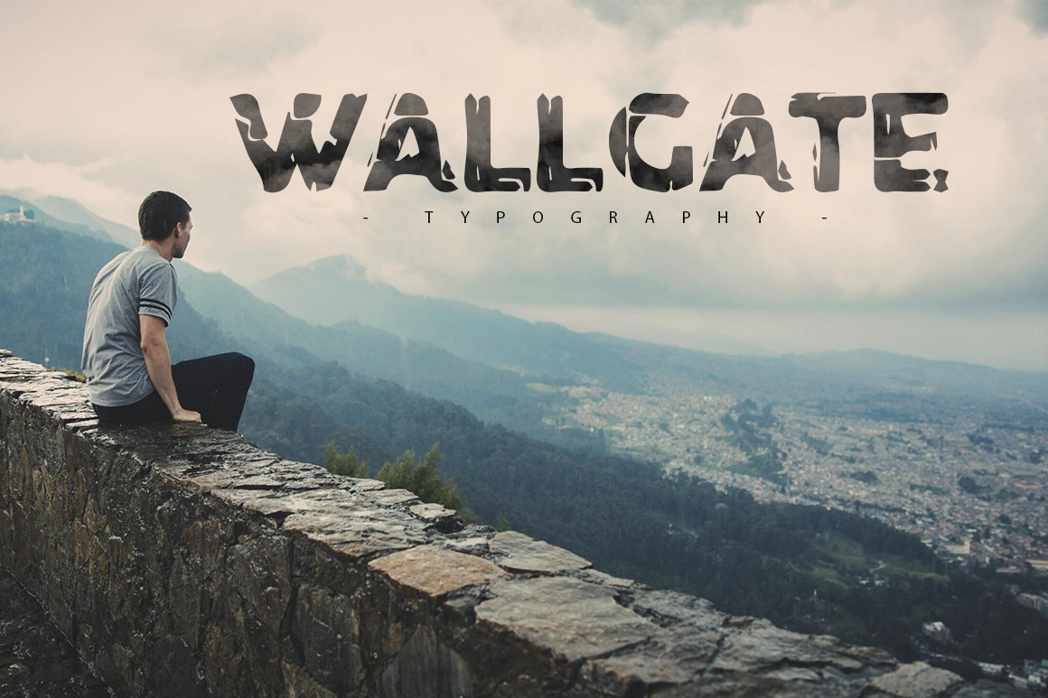 Print on Demand: Wallgate Display Font By SmartDesigns