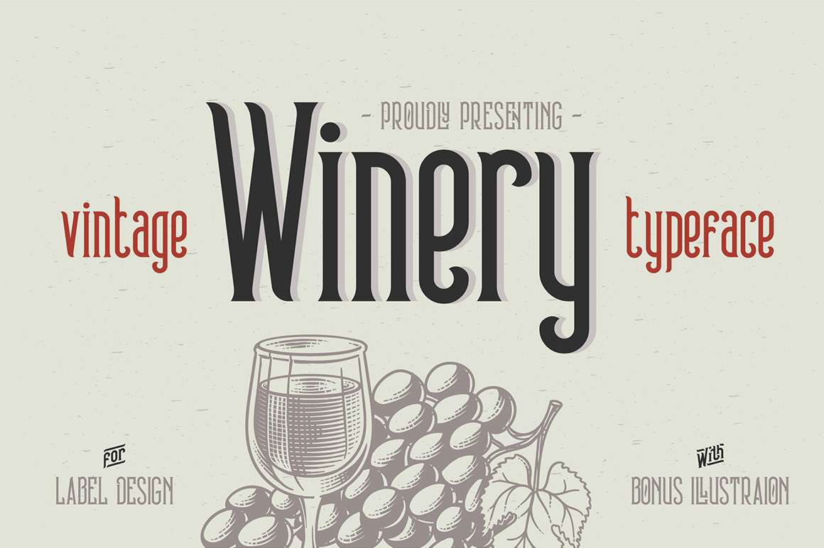 Print on Demand: Winery Display Font By Gleb Guralnyk