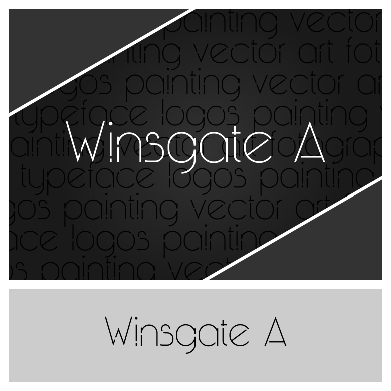 Print on Demand: Winsgate a Sans Serif Font By Richie Wins