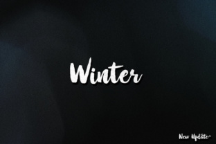 Winter Brush Font with commercial license by Barland 1