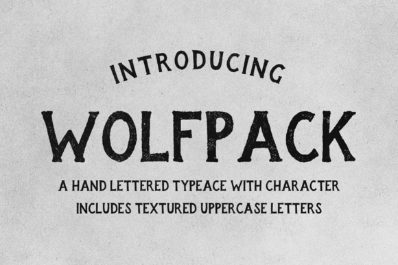 Print on Demand: Wolfpack Display Font By Mark Richardson