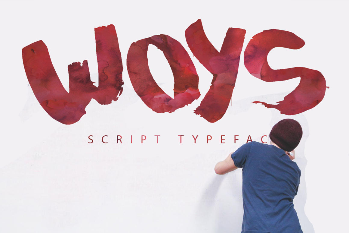 Print on Demand: Woys Script & Handwritten Font By SmartDesigns
