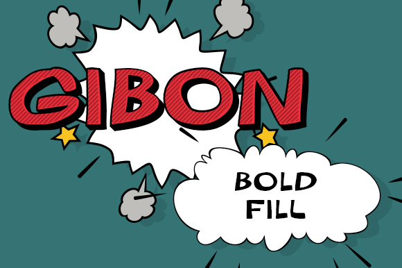 Print on Demand: Gibon Bold Fill Display Font By Juraj Chrastina