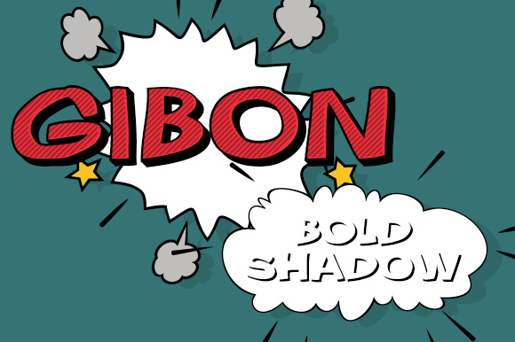 Print on Demand: Gibon Bold Shadow Display Font By Juraj Chrastina