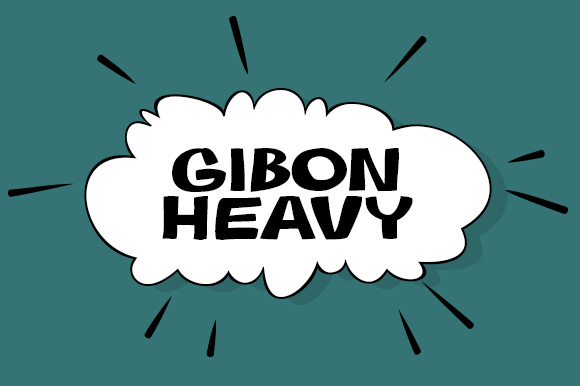 Print on Demand: Gibon Heavy Display Font By Juraj Chrastina