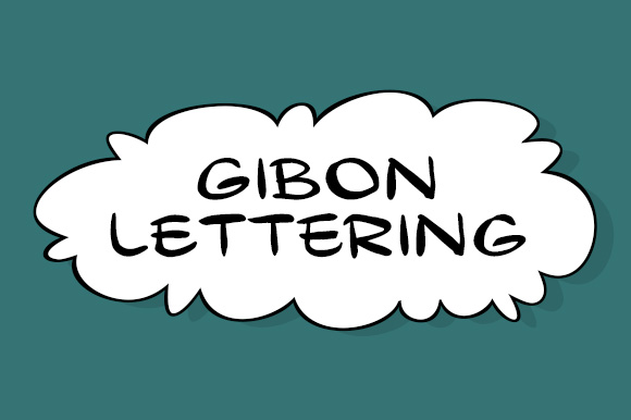 Print on Demand: Gibon Lettering Display Font By Juraj Chrastina