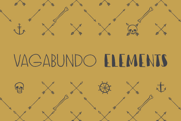 Print on Demand: Vagabundo Elements Dingbats Font By Juraj Chrastina