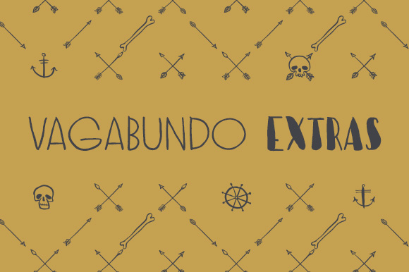 Print on Demand: Vagabundo Extras Dingbats Font By Juraj Chrastina