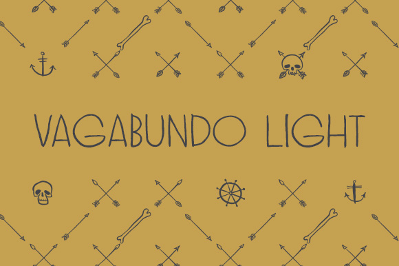 Print on Demand: Vagabundo Light Display Font By Juraj Chrastina
