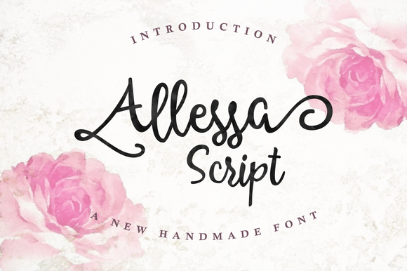 Print on Demand: Allessa Script Script & Handwritten Font By QueenType