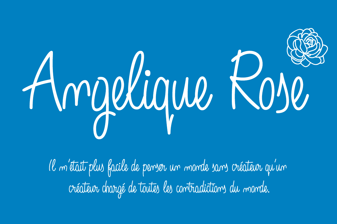 Angelique Rose Font By Fernando Haro