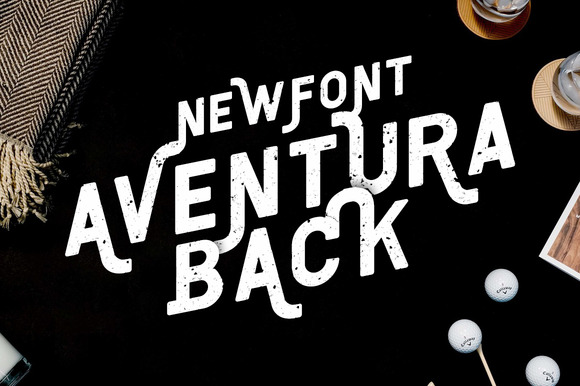 Print on Demand: Aventura Display Font By Ease Type - Image 1