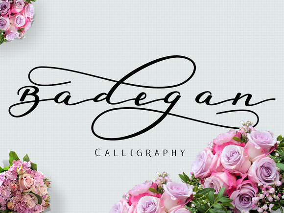 Print on Demand: Badegan Calligraphy Script & Handwritten Font By Ijem RockArt