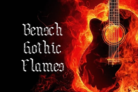 Print on Demand: Bensch Gothic Flames Decorative Font By jeffbensch - Image 1