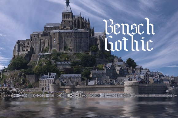 Print on Demand: Bensch Gothic Decorative Font By jeffbensch - Image 1