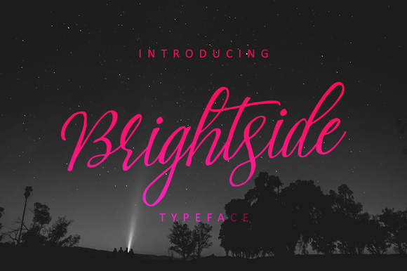 Print on Demand: Brightside Script & Handwritten Font By QueenType