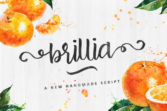 Print on Demand: Brillia Script Script & Handwritten Font By QueenType