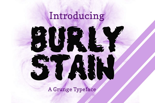 Burly Stain Display Font By Contour Fonts