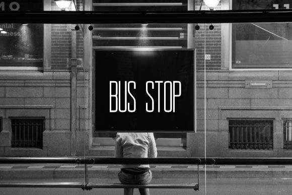 Print on Demand: Bus Stop Sans Serif Font By jeffbensch