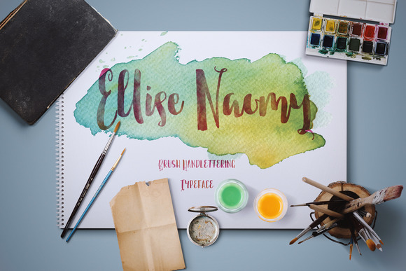 Print on Demand: Ellise Naomy Script Script & Handwritten Font By Tegaki