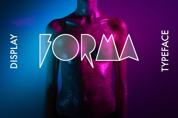 Print on Demand: Forma Display Font By Etewut