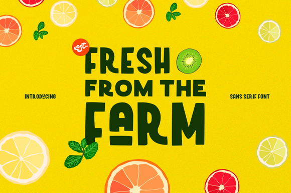 Print on Demand: Fresh from the Farm Sans Serif Font By Ease Type