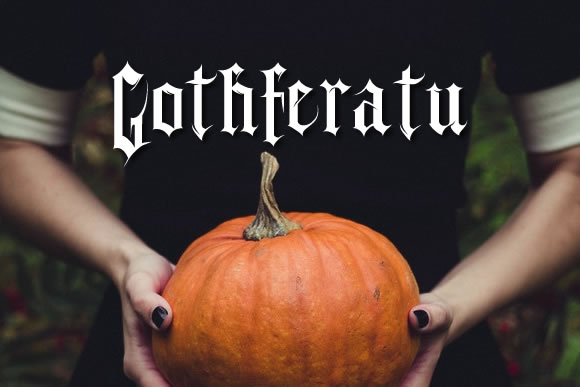 Print on Demand: Gothferatu Blackletter Font By jeffbensch