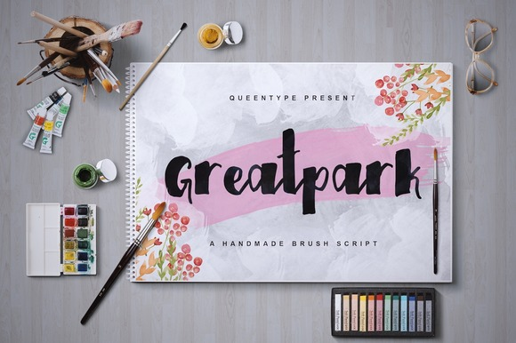 Print on Demand: Greatpark Script & Handwritten Font By QueenType