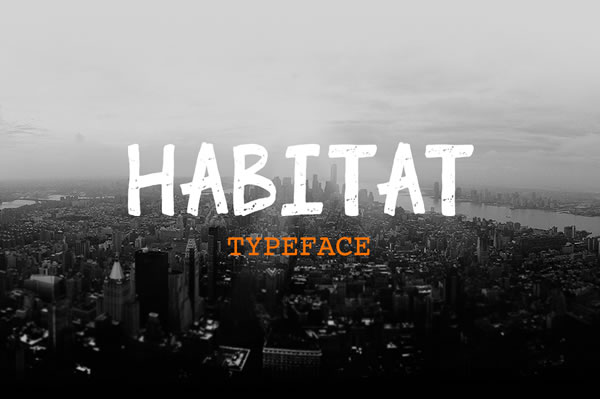 Print on Demand: Habitat Display Font By Jokiranta