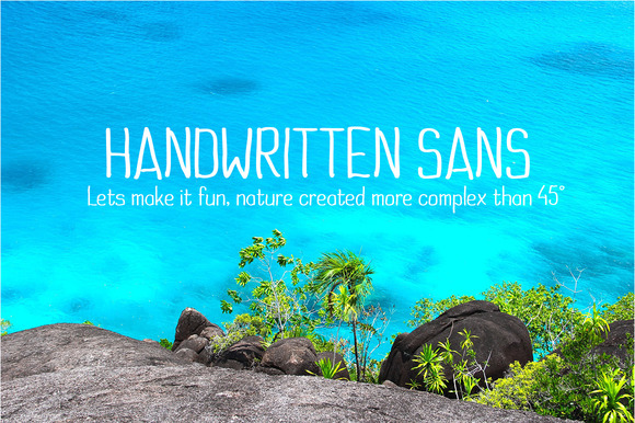 Print on Demand: Handwritten Sans Sans Serif Font By Royaltype