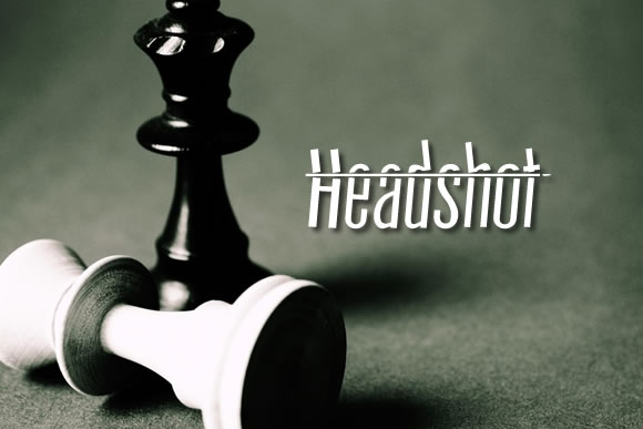 Print on Demand: Headshot Decorative Font By jeffbensch