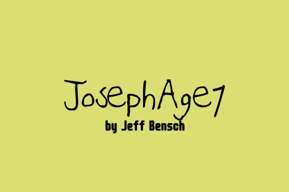 Print on Demand: Joseph Age 7 Manuscrita Fuente Por jeffbensch