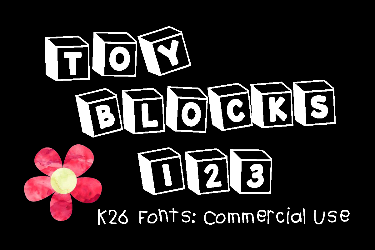 K26 Toy Blocks 123 Display Font By K26Fonts