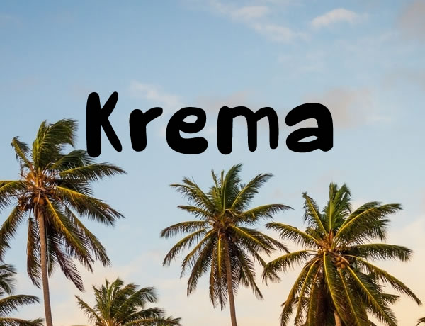 Print on Demand: Krema Script & Handwritten Font By Carolina Valtuille