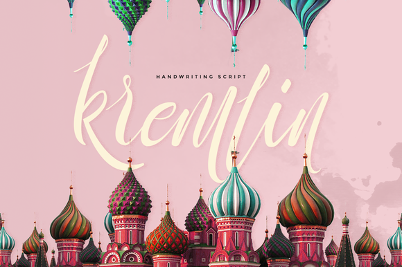 Print on Demand: Kremlin Script & Handwritten Font By Ease Type