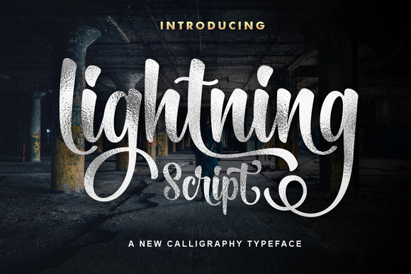 Print on Demand: Lightning Script Script & Handwritten Font By Mercurial