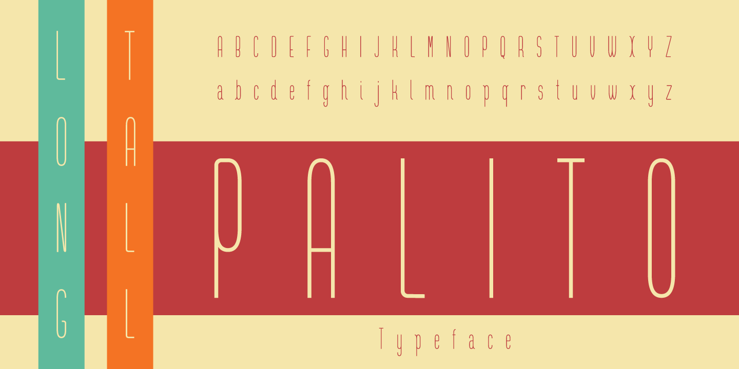 Print on Demand: Long Tall Palito Sans Serif Font By Pedro Alexandre Teixeira
