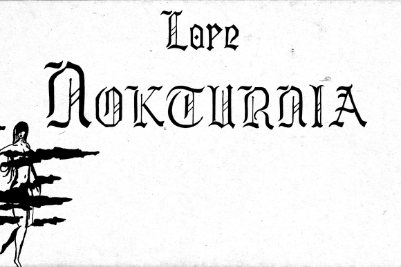 Print on Demand: Lore Nokturnia Blackletter Font By Dawnland