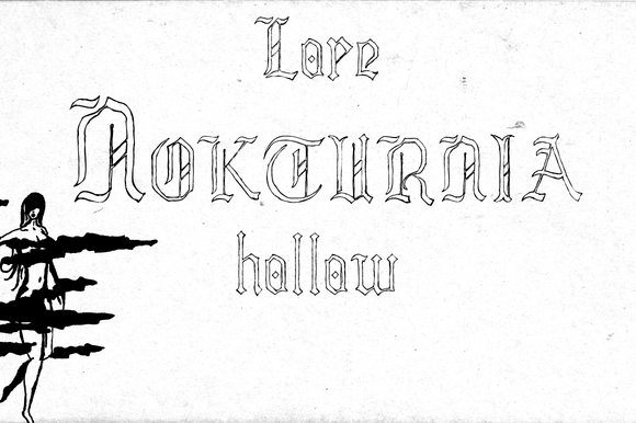 Print on Demand: Lore Nokturnia Hollow Blackletter Font By Dawnland - Image 3