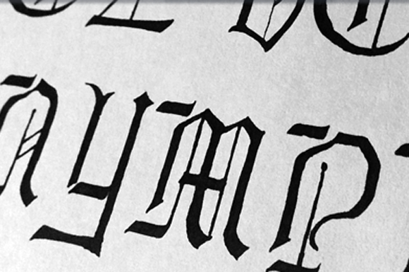 Print on Demand: Lore Nokturnia Hollow Blackletter Font By Dawnland