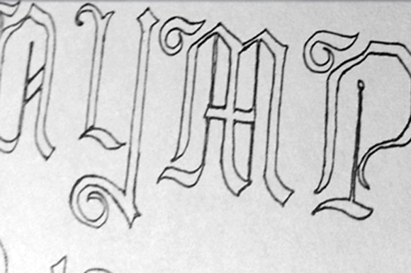 Print on Demand: Lore Nokturnia Hollow Blackletter Font By Dawnland - Image 2