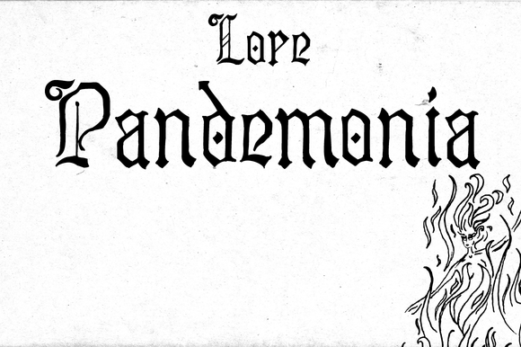 Print on Demand: Lore Pandemonia Blackletter Font By Dawnland